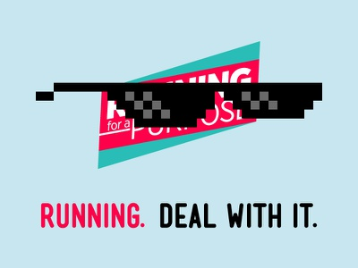 Running. Deal with it. glasses deal with it running