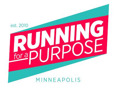 Running for a Purpose running logo neon green red minneapolis