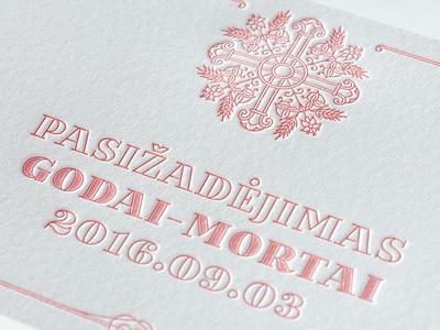 Letterpress Christening Card