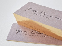 Brown Business Card With Single Gilded Edge