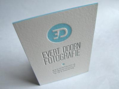 Letterpress Business Card for Photographer  letterpress business card cotton paper painted edge