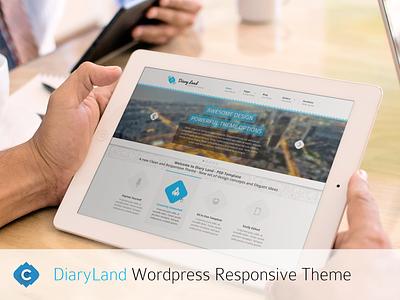Diaryland Responsive WordPress Theme web design diaryland themeforest development creiden themes