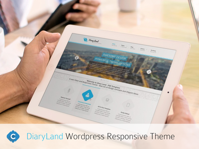 Diaryland Responsive WordPress Theme web design diaryland themeforest development creiden themes