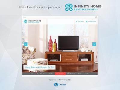 "Developed a new website for ""Infinity Home"" project website portfolio furniture design development webdesign coding"