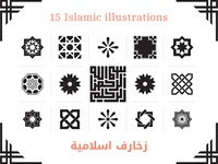 15 Islamic Vector Illustrations