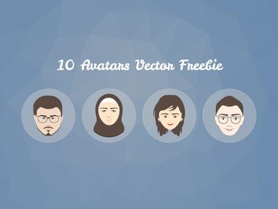 10 Free Avatars Vector avatar avatars free freebie faces websites design
