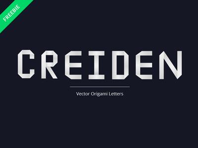 Free Origami Letters origami vector design freebies freebie