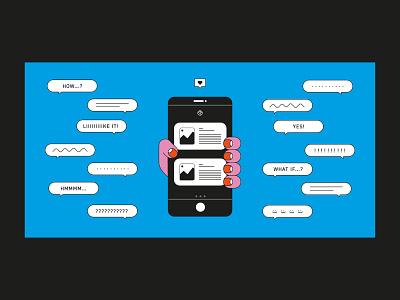 User testing illustration illustrator app design ui ux flat minimal vector illustration
