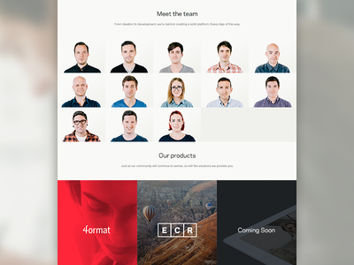 4ormat About about team web design products branding