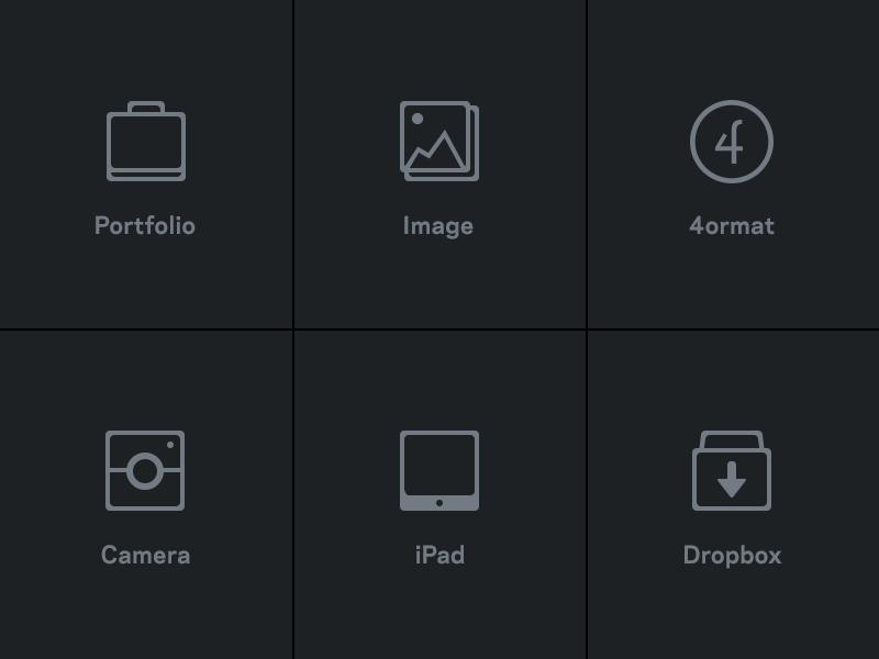 iPad App - Icons ipad portfolio dropbox camera image icons