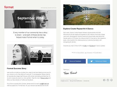 Format Newsletter email newsletter themes marketing social