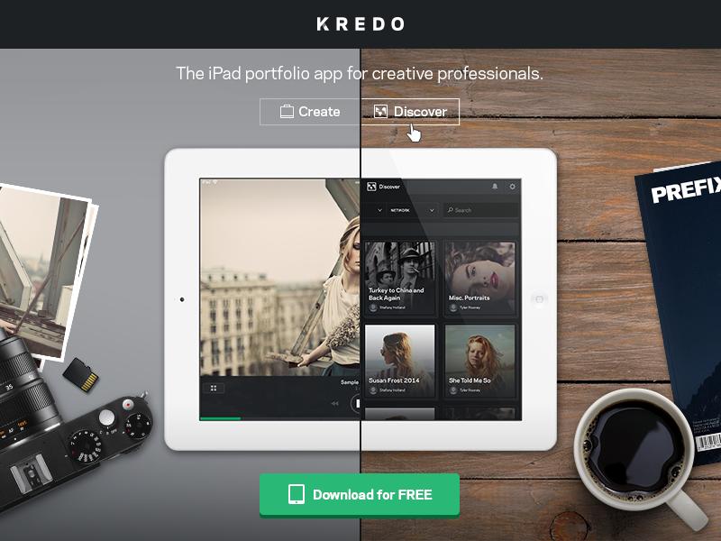 Kredo Website Concept website ipad app landing page