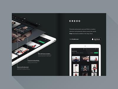 Kredo Magazine Ad ipad app portfolio present share discover ad marketing