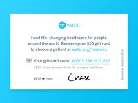 "Watsi ""Business"" Cards"