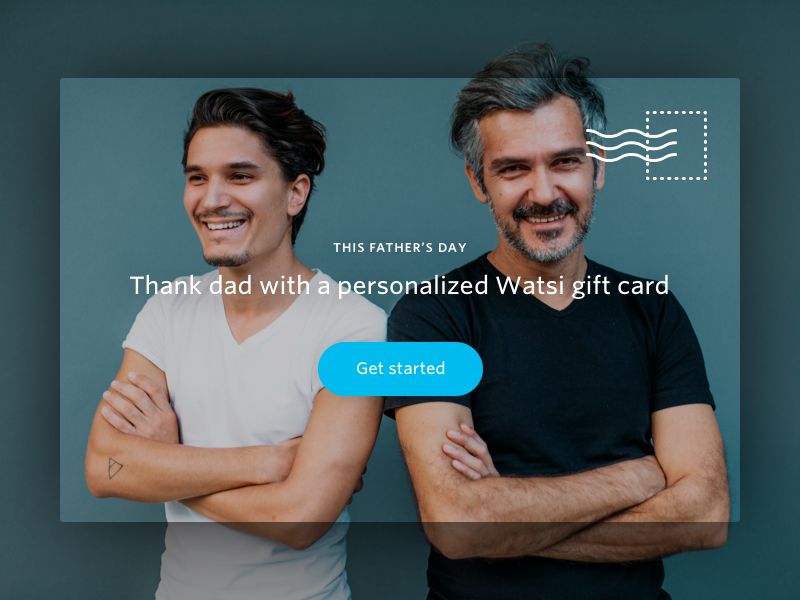 Father's Day Gift Cards gift card landing page fathers day postcard promotion