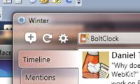 Winter - Main Window Toolbar