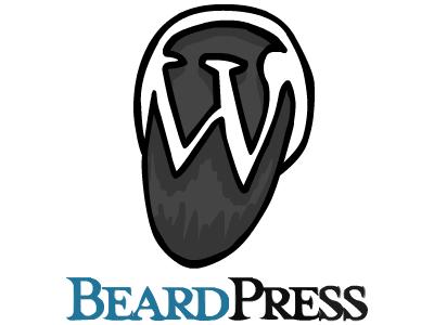 BeardPress wordpress flash illustration logo parody
