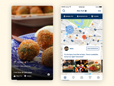 Wine N Dine - Food Details ux ui travel reservation location map restaurant food project mobile interface daily design app android ios