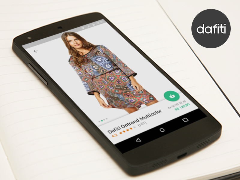Dafiti - Product Detail (Nexus 5) dafiti product detail nexus mockup android material design ui ux google