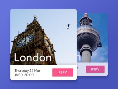 RSPV Material Card color inspiration berlin london button ui card rspv design material