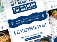 Wine n Dine - Get Ready fo the Weekend mail discount design graphic menu visual ui food restaurant app ios wine n dine