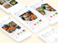 Wine n Dine - Hungry 🔥 card swipe design menu visual ux ui food restaurant app ios wine n dine