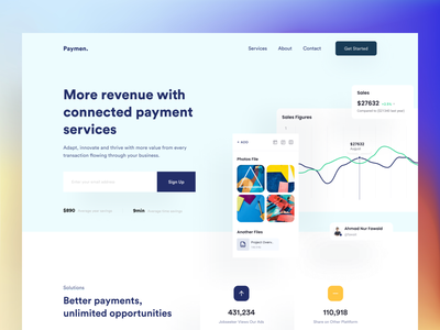 Fintech landing page: homepage finance wallet landing page payment website fintech productdesign banking website home page landing page saas