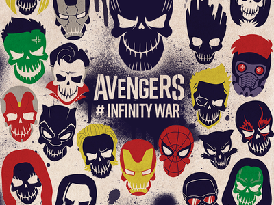 Infinity Squad suicide squad infinity war spraypaint photoshop illustrator poster film avengers