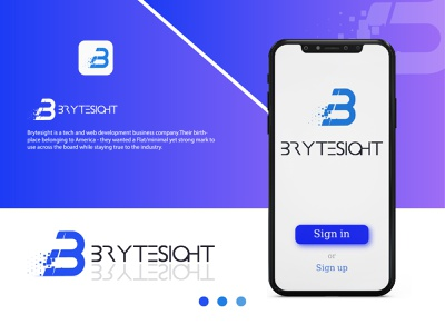 Brytesight Logo / Technology Company Logo illustrator vector typography icon flat minimal businesslogo professionallogo technologylogo creativelogo branding logo graphic design