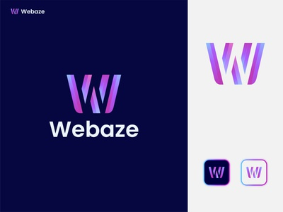 W letter logo / Webaze creativelogodesign brand portfolio modernlogo graphicdesign professionallogo businesslogo minimal illustration creative flatlogo brandidentity branding w wlogo creativelogo logodesign logo letter grkhan