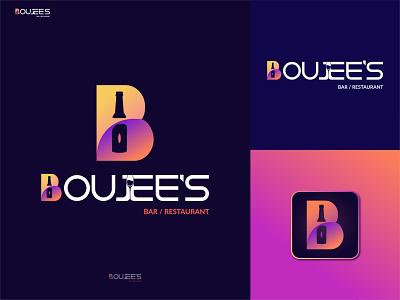 Boujee's Logo / Bar & Restaurant Logo / Letter B lettermark modern minimal businesslogo dribble portfolio grkhan vector bearlogo glasslogo winelogo barlogo logodesigner creativelogo creative brandidentity logodesign branding logo graphic design