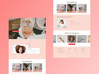 Qiya Clinic ui design uidesign web design webdesign website design ux animation web graphic design
