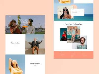 Web Design Project about Fashion Brand minimal landing page interface illustration homepage figma web design webdesign ui web ux ui design uidesign graphic design