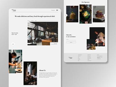 The Nama Studio - Restaurant Website Exploration landingpage eat design food restaurant clean uiux ui uidesign ux minimalist food app clean ui clean design ui design web design webdesign