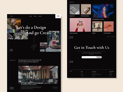 Creative Agency - Home Page portfolio creative minimal landing page agency typography branding ui design ux web design design uidesign illustration corporate