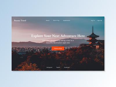 Travel Agency - Web Exploration landing page travel app adventure tourism uiux simple web design travel agency