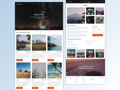 Pesona Travel - Checkout Trip Package landing page travel app adventure tourism ux ui uiux simple web design travel agency explore homepage vacation travel agency