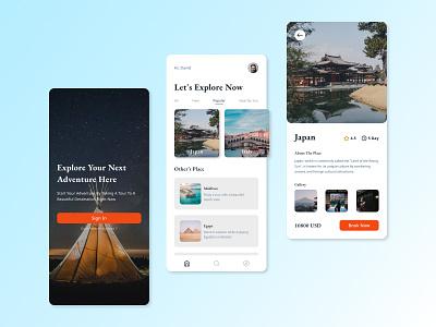 Pesona Travel App Design travelling mobile app design app design concept design ui travel app mobile minimal clean mobile ui app travel mobile app travel agency tour