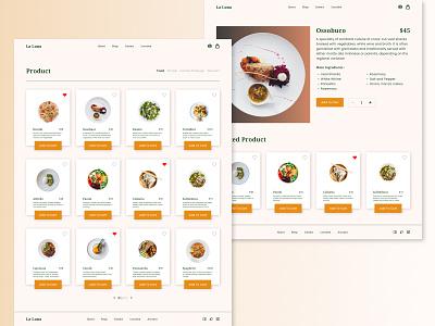 La Luna - Restaurant Website Exploration ecommerce chef delivery app landing landingpage landing page design web web design website shop minimalist clean ux food app food delivery food restaurant ui uiux