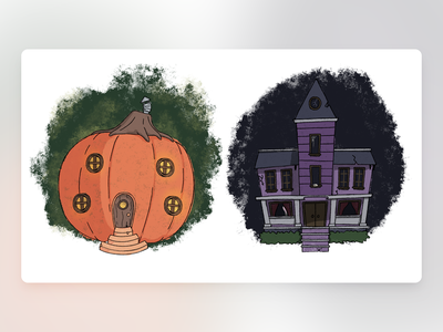 Would You Rather - #064 procreate haunted mansion house pumpkin newsletter