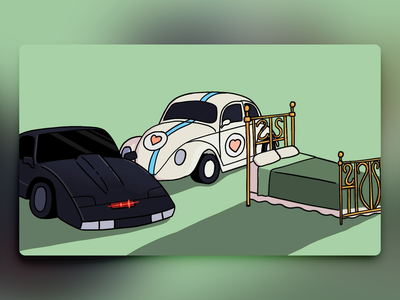 Would You Rather - #062 beet illustration procreate newsletter bed nightrider kitt car beetle