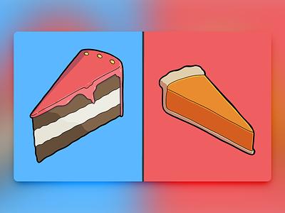 Would You Rather - #061 procreate chocolate pumpkin pie illustration cake pie