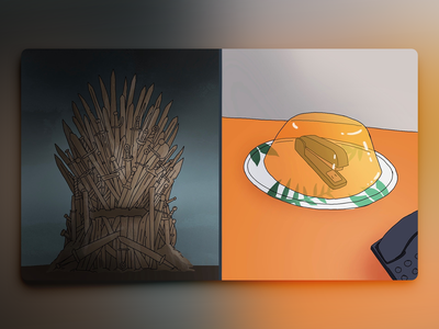 Would You Rather - #059 procreate stapler jello illustration throne game office