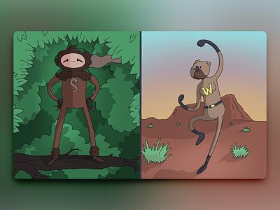 Would You Rather - #058 procreate newsletter illustration hero superhero wombat sloth