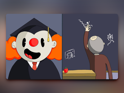 Would You Rather - #057 aweber newsletter illustration teacher professor clown