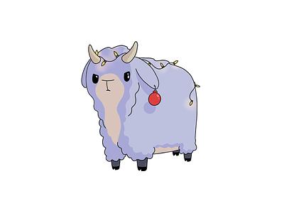 Would You Rather - #073 Yule Goat procreateapp procreate chibi cartoon illustration christmas yule goat yule goat