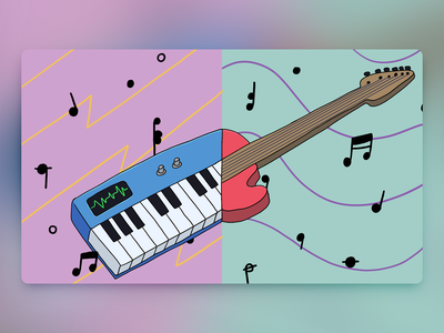 Would You Rather - #074 keytar guitar newsletter cartoon procreate illustration