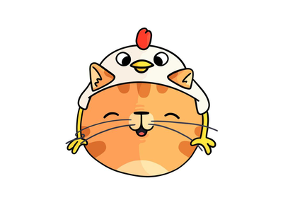 A Cat in a Chicken Hat procreate cat hat chicken