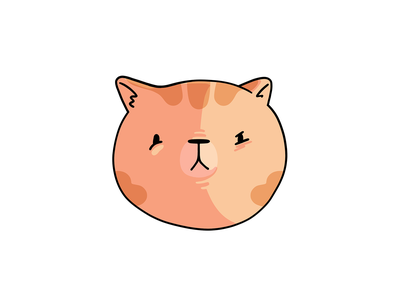 Strawberry Blonde Cat product strawberry blonde cartoon cate procreate