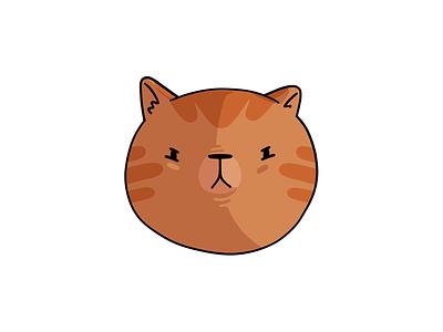 Angry Orange Cat cartoon procreate angry cat orange